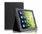 Etui pokrowiec Apple iPad Mini 2 3 Black Matt Leather widok z przodu