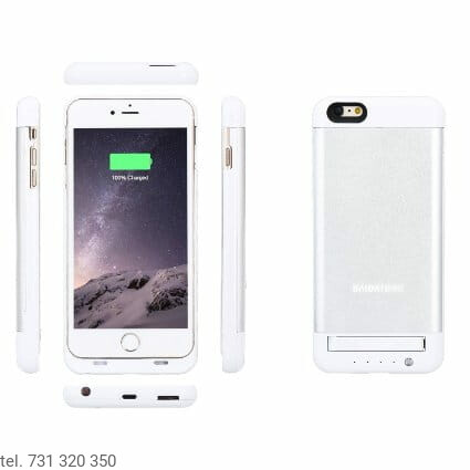 Etui case bateria power bank 4200mAh iPhone 6 plus widok z przodu